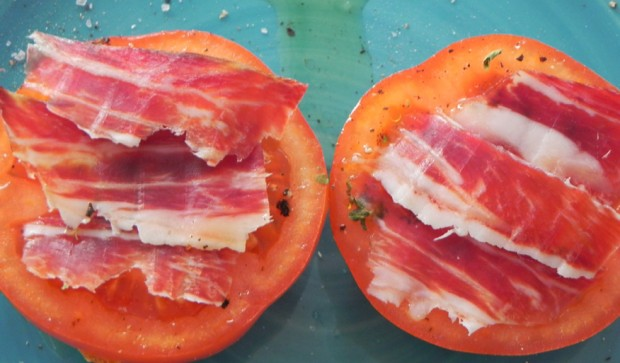 Tomato and Iberico Ham Tapa