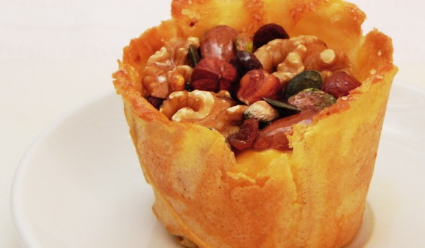 Custard Tartlet with Nuts and Fig Jam