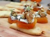 Dried Apricot Blue Cheese Tapa